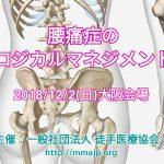 腰痛症のロジカルマネジメント|徒手医療協会